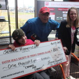 Jessie Hippenstall collects $1800 for Easter Seals!
